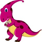Funny t rex cartoon standing bring egg with smiling Royalty Free Stock Photos