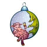 Vector illustration of fur-tree toy with funny Royalty Free Stock Images