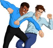 Furious Men Fighting Stock Images