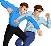 Furious Men Fighting Royalty Free Stock Photography