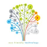 Vector illustration of futuristic tree, technology and science c. Onceptual design. Recycling and reuse concept Stock Photo