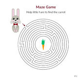 Vector illustration. game for children. circular maze or labyrin Royalty Free Stock Images