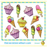 Vector Illustration - Game for Children find picture  Royalty Free Stock Photo