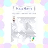 Vector illustration. game for preschool children. square maze Stock Images