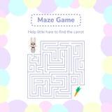 Vector illustration. game for preschool children. square maze or Stock Image