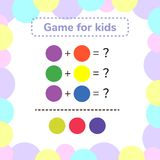 Vector illustration. game for preschool kids. rebus for children. Find the right answer. color mixing Stock Photography