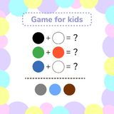 Vector illustration. game for preschool kids. rebus for children. Find the right answer. color mixing Stock Photo