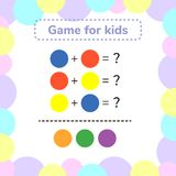 Vector illustration. game for preschool kids. rebus for children. Find the right answer. color mixing Royalty Free Stock Images