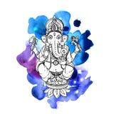 Vector illustration with Ganesha Royalty Free Stock Image
