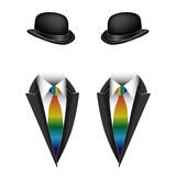 Vector illustration of gay couple Royalty Free Stock Photo
