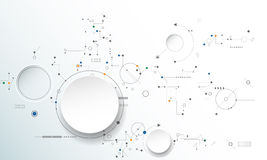 Free Vector Illustration Gear Wheel, Hexagons And Circuit Board Royalty Free Stock Image - 71114526