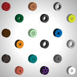 Vector illustration gears Abstract background Royalty Free Stock Photo