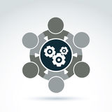Vector  illustration of gears - enterprise system theme, busines Stock Photo