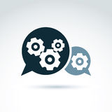 Vector illustration of gears - enterprise system theme, organiza Stock Photo