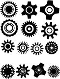 Vector illustration with gearwheel Stock Image
