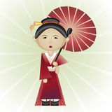 Vector illustration of geisha Royalty Free Stock Photography