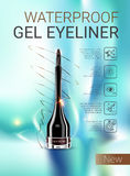 Vector Illustration with gel eyeliner container. Royalty Free Stock Photos