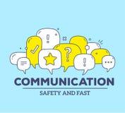 Vector Illustration gelben und weißen Farbdialogsprache bubb Lizenzfreie Stockfotos