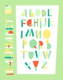 Vector illustration of  geometric alphabet. Royalty Free Stock Images