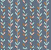 Vector illustration of geometric leaves seamless pattern. royalty free illustration