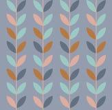 Vector illustration of geometric leaves seamless pattern. stock illustration