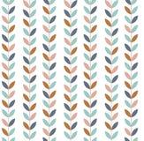 Vector illustration of geometric leaves seamless pattern. vector illustration
