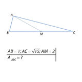 Vector illustration of a geometrical problem for finding the area of a triangle-01 Stock Images