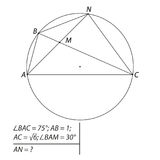 Vector illustration of a geometrical problem to find the segment AN-01 Royalty Free Stock Photography