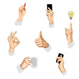 Vector illustration of gestures Royalty Free Stock Photography