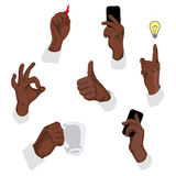 Vector illustration of gestures Stock Photos