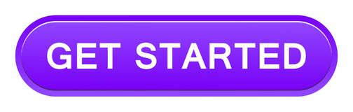 Get started button. Vector illustration of get started button web violet button on white background stock illustration
