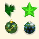 Vector illustration of a gift in the box and and burning candle pattern Royalty Free Stock Images