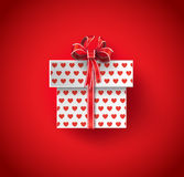 Vector illustration of  gift box. Royalty Free Stock Images