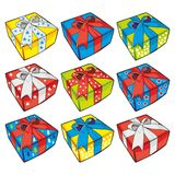 Vector illustration of gift boxes Royalty Free Stock Photo