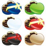 Vector illustration of gift chocolate boxes Royalty Free Stock Photos