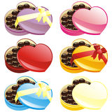 Vector illustration of gift chocolate boxes Royalty Free Stock Photo