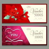 Vector illustration Gift voucher Happy Valentine day Royalty Free Stock Photography