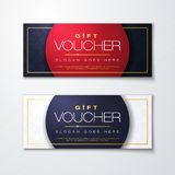 Vector illustration template special gift voucher with modern premium pattern. Vector illustration, gift voucher template with clean and modern premium pattern vector illustration