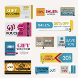 Vector illustration of gift voucher template Stock Images