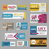 Vector illustration of gift voucher template Royalty Free Stock Photography