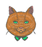 Vector illustration of ginger cat Royalty Free Stock Photos