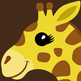 Vector illustration. Giraffe. Royalty Free Stock Photos
