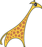 Vector illustration of a giraffe. Vector illustration of a stylized  giraffe Stock Image