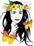 Vector illustration girl Stock Photography