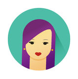 Vector illustration of girl with cute hair style Royalty Free Stock Image
