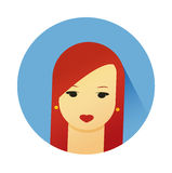 Vector illustration of girl with cute hair style Royalty Free Stock Photo