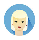 Vector illustration of girl with cute hair style Royalty Free Stock Images
