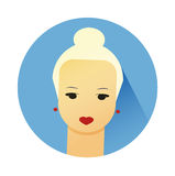 Vector illustration of girl with cute hair style Stock Photo