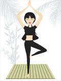 Vector illustration of girl doing yoga Stock Photo