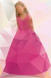 Vector illustration of a Girl in a dress. Triangle Stock Photography